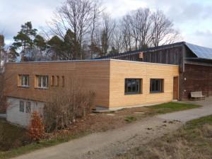 Neue Clubheim-Fassade